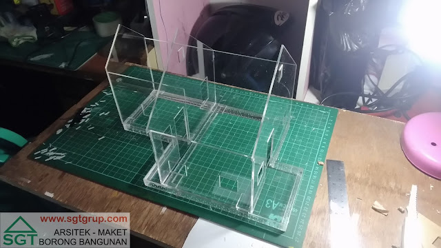 Jasa Pembuatan Maket Rumah Tipe Amerika Model 2