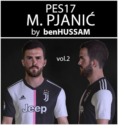 PES 2017 Pjanic Face by benHUSSAM Facemaker