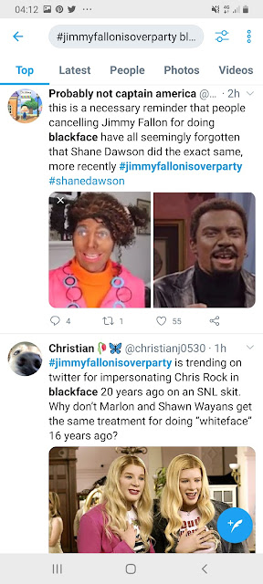 image result for jimmy fallon chris rock blackface snl impression