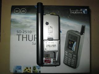 Hape Satelit Thuraya SO-2510 Seken Termasuk Perdana Dan Pulsa