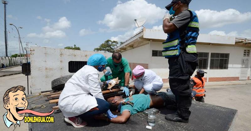 Paciente trasladado en camión de carga por falta de ambulancias en Valencia