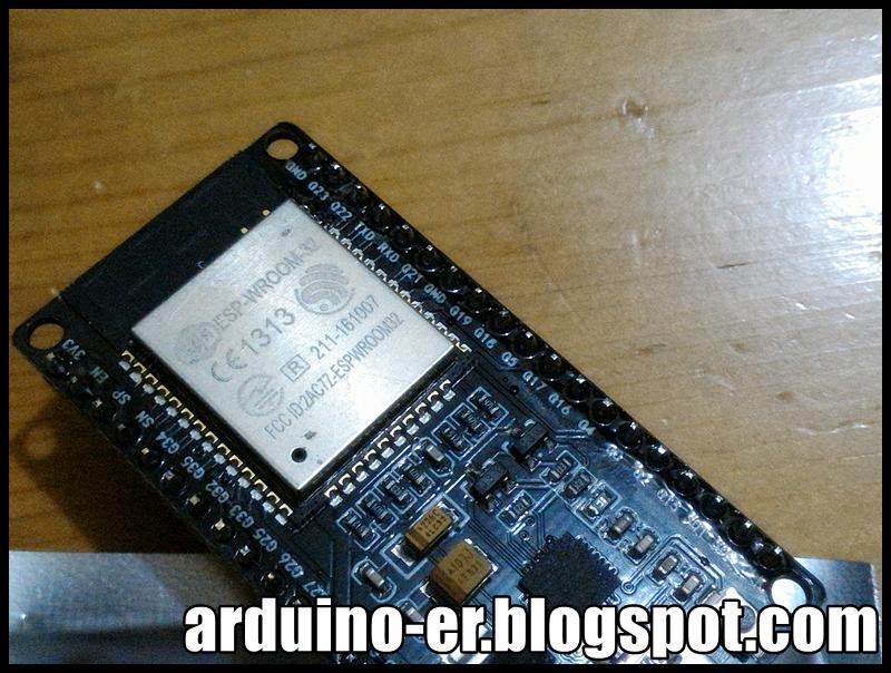 Arduino-er: ESP-32S Wifi Bluetooth Module
