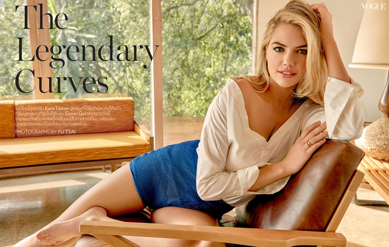 Kate Upton bares curves for Vogue Thailand April 2017