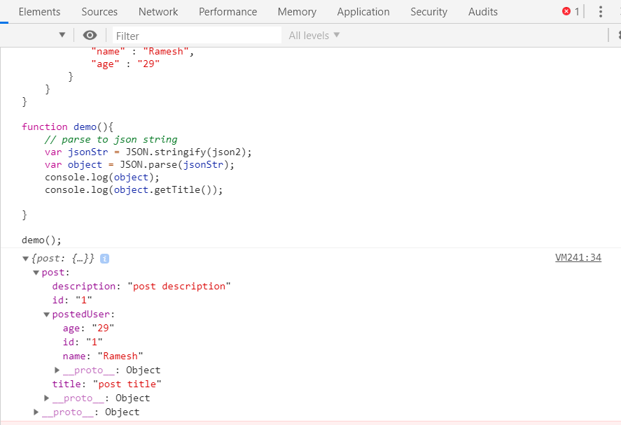 Parse JSON String into JavaScript Object Prototype or