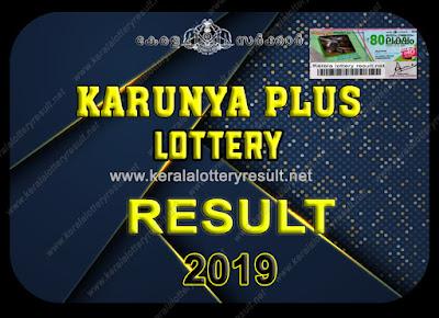 KARUNYA PLUS LOTTERY RESULTS 2019