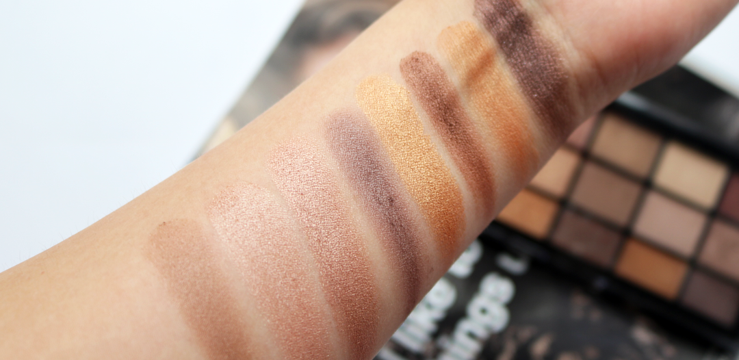 MUA 15 Shade Eyeshadow Palette Au Naturel - Review & Swatches