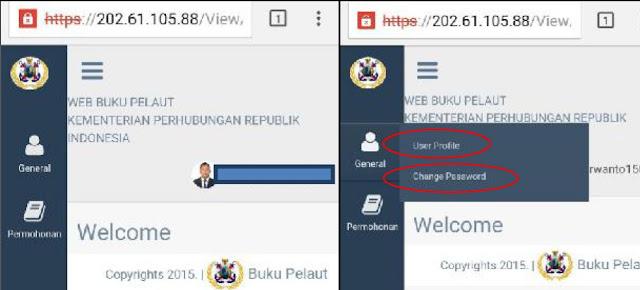 edit data profile - Buku Pelaut Online Di KSOP Tanjung Emas