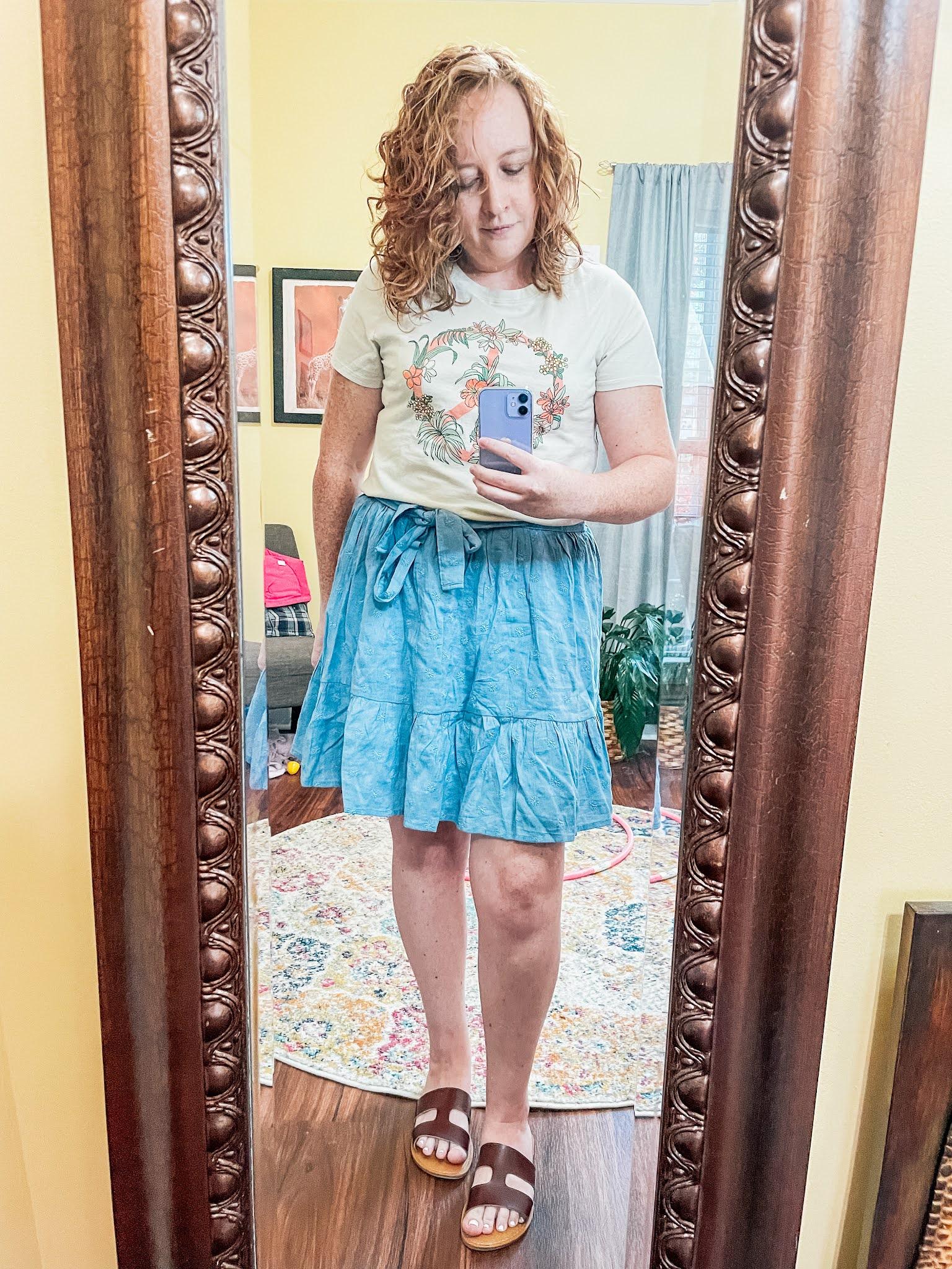 flower-peace-sign-blue-skirt
