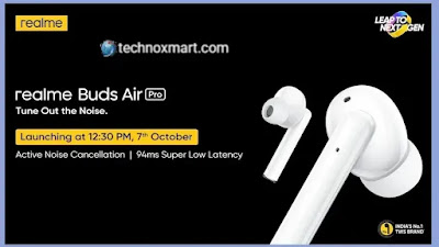 Realme Buds Air Pro TWS Earbuds Is Said To Launch In India On October 7