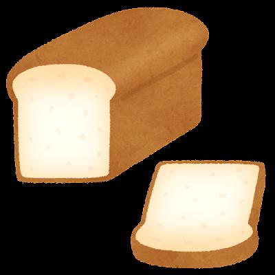 食パン1斤のイラスト(山型)