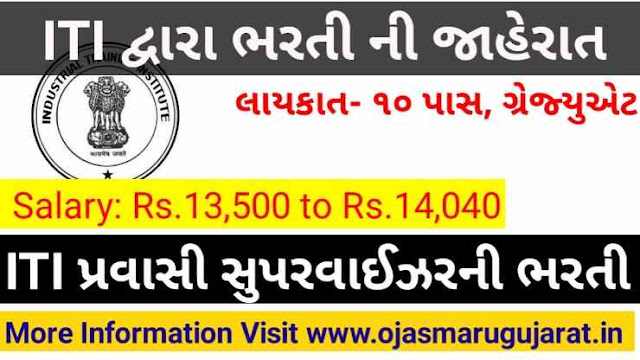 ITI VAV, Dakor And Prantij Supervisor Instructor Requirement 2019