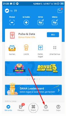 Cara Dapat Bonus Voucher 50% Aplikasi Dana Gratis Pulsa, Token PLN, Diamond Game Free Fire Senilai 25.000
