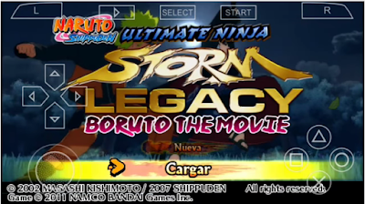 Naruto Shippuden Ultimate Ninja Storm Legacy (Mod Boruto The Movie) Ppsspp For Android Terbaru