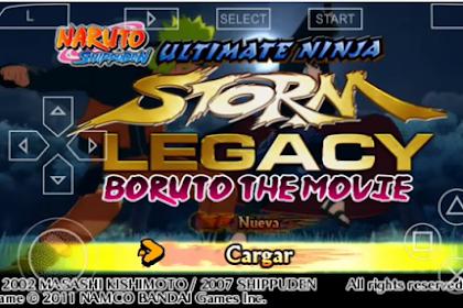Naruto Shippuden Ultimate Ninja Storm Legacy (Mod Boruto the Movie) PPSSPP For android Terbaru
