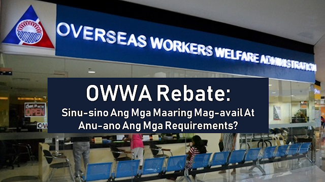 The much awaited rebate will soon be availed by overseas Filipino workers who had been working abroad for over 10 years or more.       Ads  Overseas Workers Welfare Administration (OWWA) Administrator Hans Leo Cacdac explains about the rebate that the OFWs can claim after working overseas for a minimum of ten years. In a radio program which can also be watched over the internet via FB live, he said that the much awaited rebate can now be availed by qualified OFWs.    What is OWWA Rebate Program?    Pursuant to Republic Act 10801 or the OWWA Act, a rebate is provided for the members who never availed any benefits from the agency and who are working overseas for a minimum of ten years.        The basis of the amount for the rebate was subjected to an intensive actuarial study by experts to determine the capability of the OWWA funds to enact the rebate without affecting other programs .     Based on the actuarial study, the amount of P1Billion is appropriated to fund the rebate where over 556,000 beneficiaries are expected to claim based on the December 2017 cut-off.    For the next batch of rebate beneficiaries, OWWA had appropriated P2 Billion.    Who are eligible to claim the rebate?     - OFWs who had been a member of OWWA for ten years or more.    -Those who already paid  five OWWA membership contribution.    -OFW who never availed any OWWA programs and benefits.      How much rebates can a qualified member avail?     Qualified members can get P941.25 up to P13,177.50 depending on the amount of the contribution and based on the table of computation above.     Administrator Hans Leo Cacdac clarified that the rebate is not a refund nor a cashback.        {INSERT 2-3 PARAGRAPHS OR 3 IMAGES HERE FOR HOUSE OR PHOTO BLOG}  Ads    Sponsored Links      In section 54 of the OWWA Act , it is stated  as a recognition of the contribution of the  long time members.    Qualified claimants may visit any OWWA regional office and bring one valid government issued ID. for OFWs abroad, they may send an authorized representative or they may log-in to the soon to be active OWWA Rebate portal.  For deceased members, the family may claim the benefit on their behalf. They only need to bring the deceased members death certificate.    Administrator Cacdac said that though the amount of the rebate is small, it is still a blessing for the member who had been working for their family considering the hardships of working abroad.