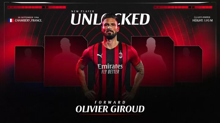 OFFICIAL: Olivier Giroud joins AC Milan from Chelsea in the No.9 shirt