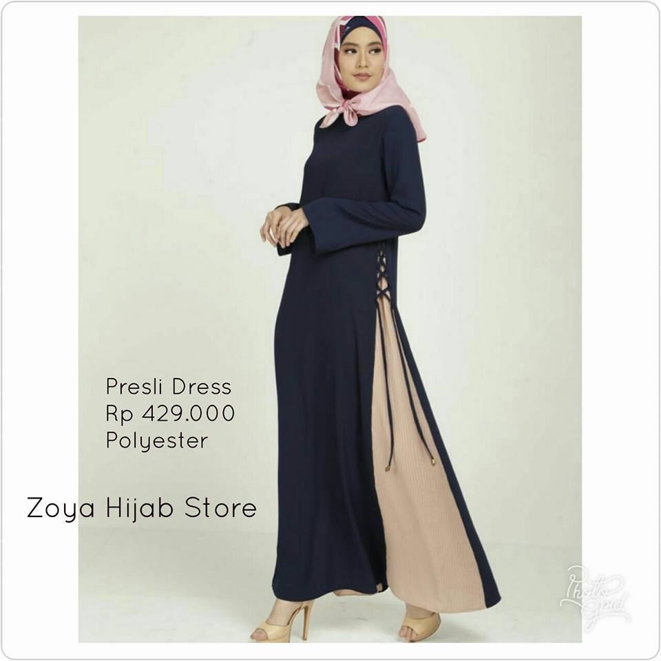 Galeri Azalia Toko Online Baju Busana Muslim Modern Dan Zoya Inner Dress Gamis Muslimah Cantik Ummi Merah Muda Xl Presli Navy Sml