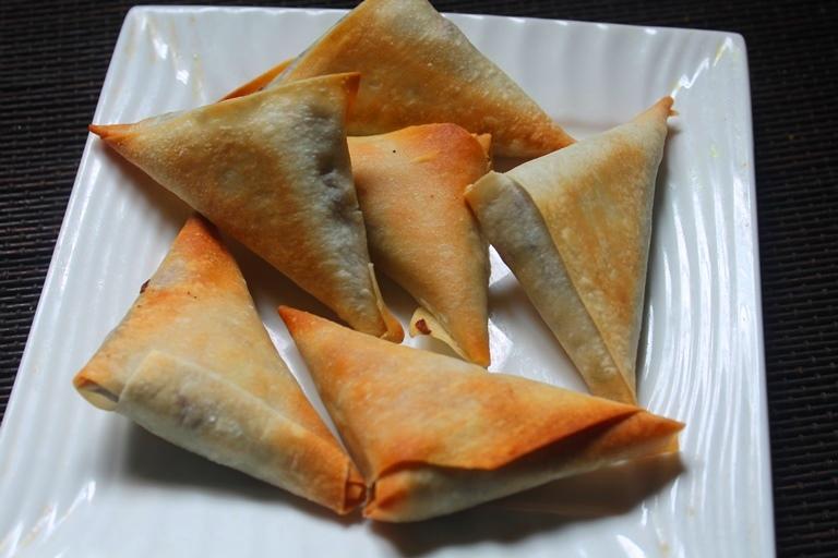 Baked Chinese Style Samosa Recipe - Yummy Tummy