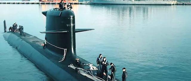 El Submarino Scorpene O'Higgins (SS-23) zarpa para despliegue con la USnavy
