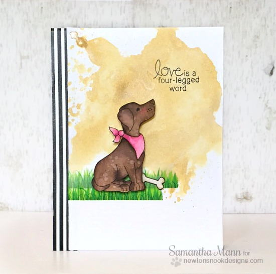 Love Labrador Dog Card by Samantha Mann | Fetching Friendship stamp set by Newton's Nook Designs #newtonsnook