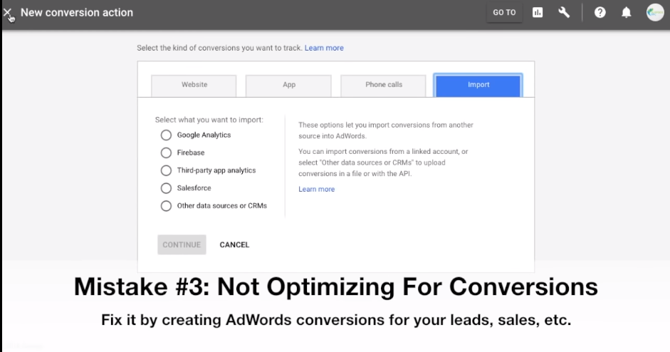Optimizing for conversion