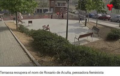 Imagen de la plaza que llevará el nombre de Rosario de Acuña en Tarrasa (Terrassadigital.cat)