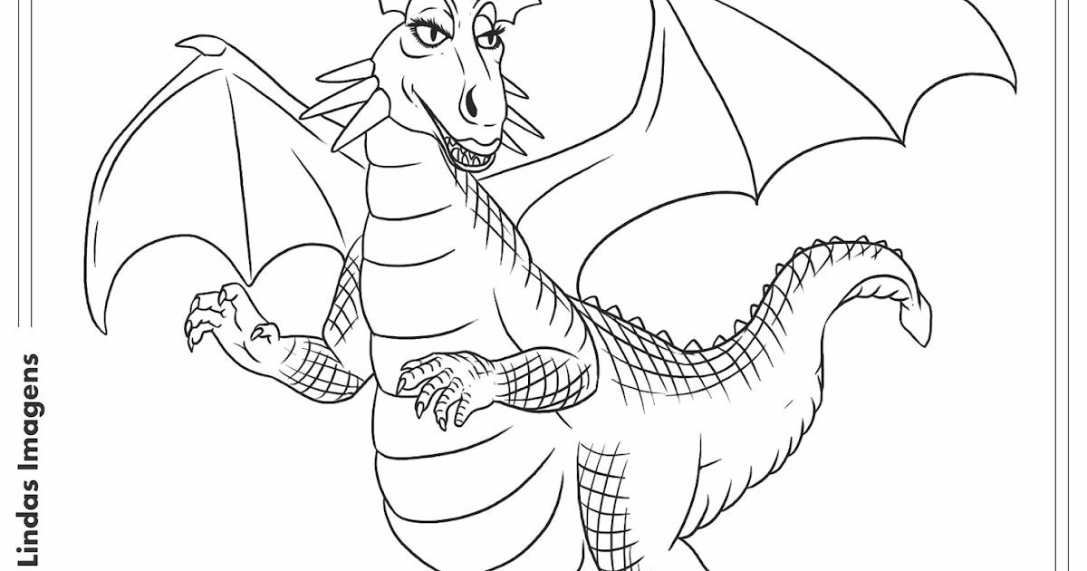 Dragão Desenho Para Colorir