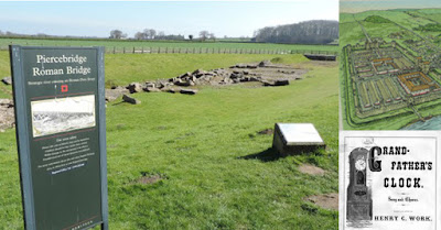 Piercebridge Co Durham Roman Bridge remains