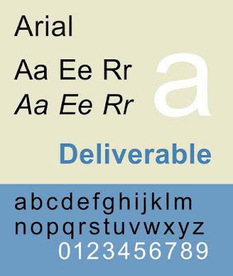 Arial CV font