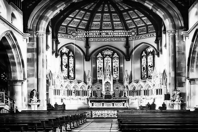 Inside St Begh's Church, Whitehaven