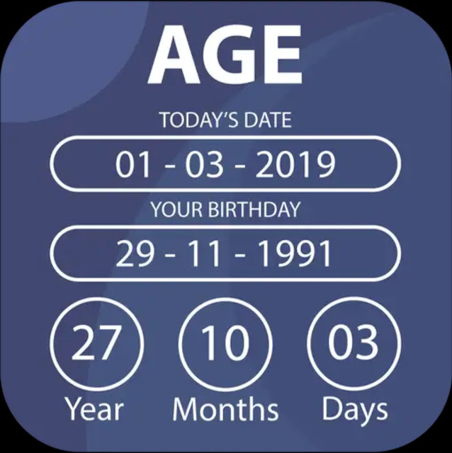 How old are you? Measure your actual age up to seconds in Age Calculator