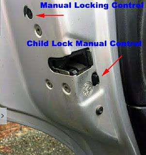 Citroen c3 manual door locking procedure