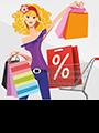 Mujer compras y moda