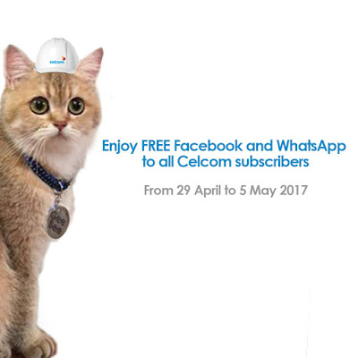 Celcom Xpax Subscribers Free Unlimited Facebook WhatsApp