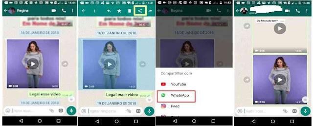 Tutorial  ocultando mensagem encaminhada nos vídeos