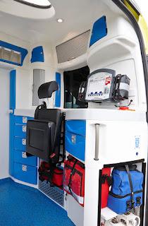 Arrière droit de l'ambulance Delfis