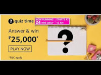 Amazon Quiz Answers Time Daily @ 24 HRS on 27 Feb 2021 Win 25,000