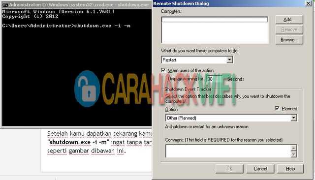 dialog shutdown windows