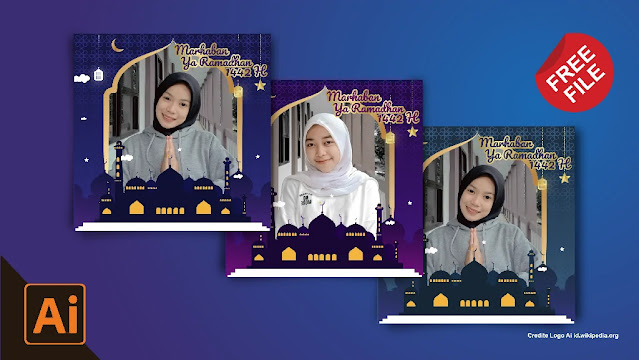 Free File : Download Kumpulan Twibbon Ramadhan Coreldraw Dan Illustrator