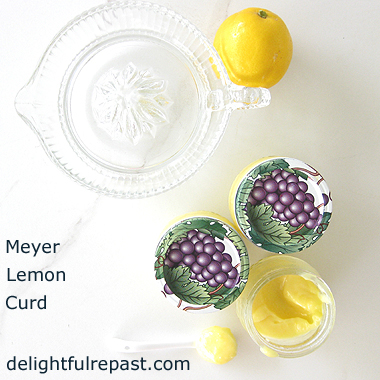 Meyer Lemon Curd - Made with Whole Eggs / www.delightfulrepast.com
