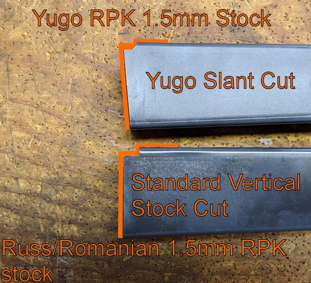 Yugo vs Russ/Romanian RPK Stock Cuts