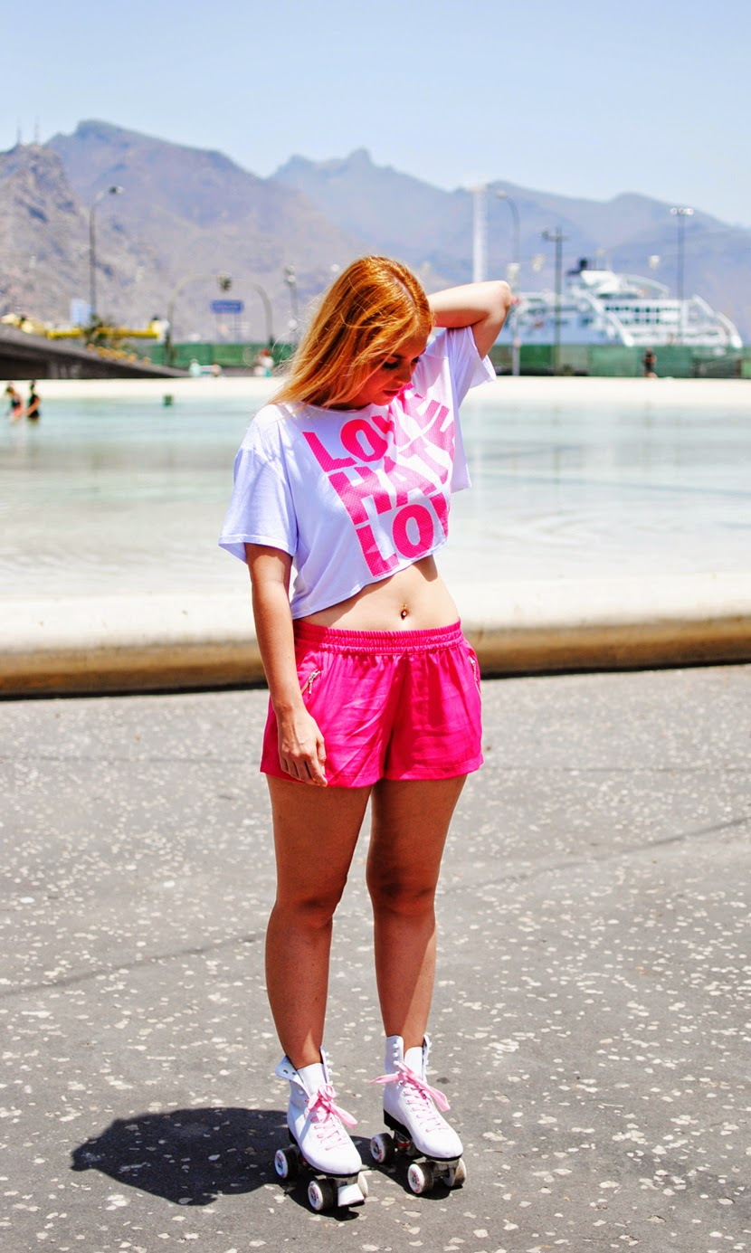 nery hdez, crop top, fashion inspiration, sport top, blogueras de tenerife, inlovewithfashion, roller girl