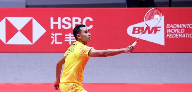 Tommy Sugiarto Dihentikan Momota di Babak Kedua China Open 2019