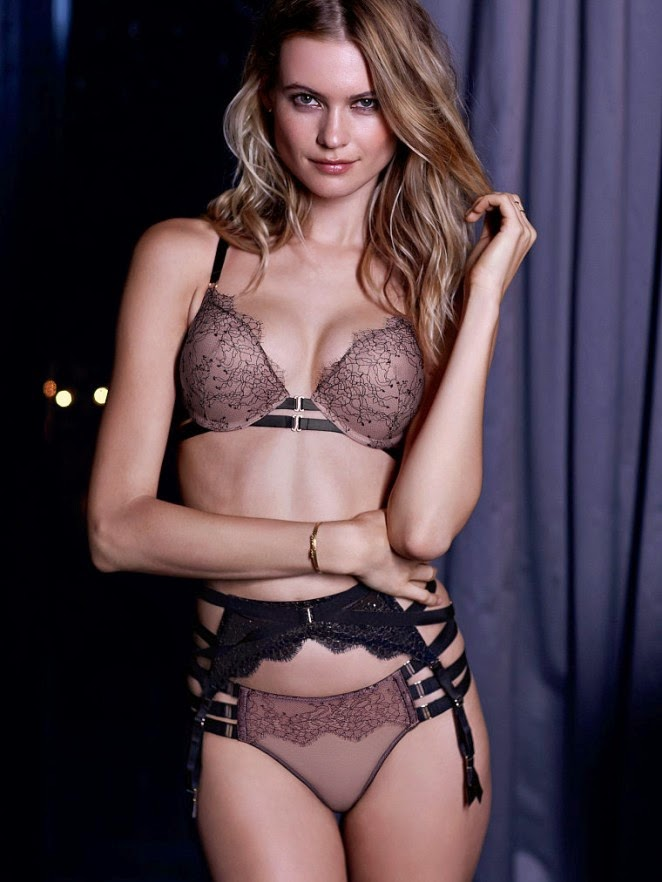 Behati Prinsloo shows off lingerie looks for Victoria's Secret March 2015 Lookbook