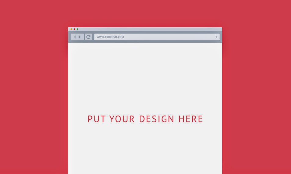 Flat Vector Browser For Mockups