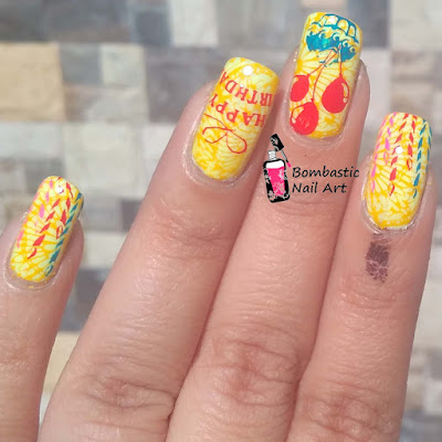 Birthday Stamping Nail Art Ideas