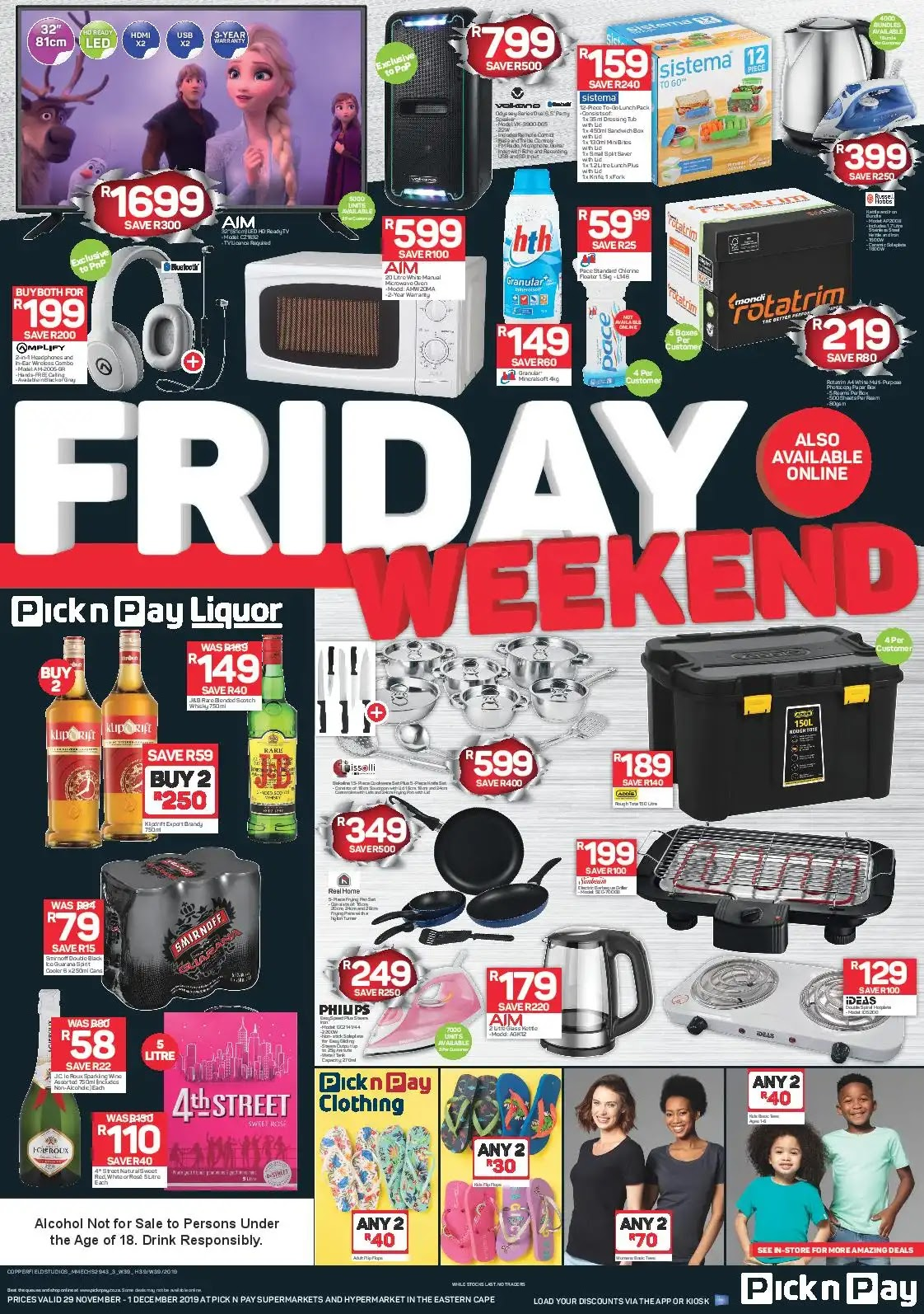 Updated 2019 Pick N Pay Black Friday Deals Eastern Cape