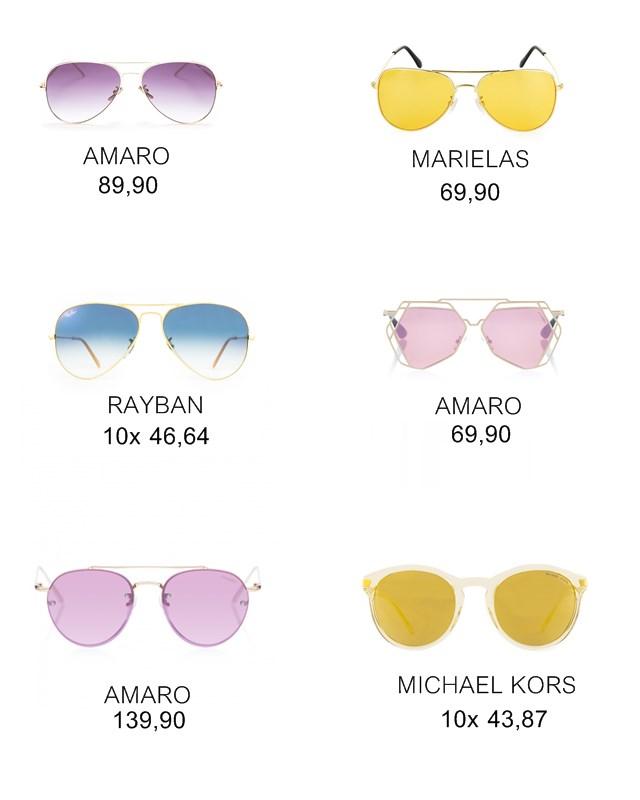 Onde comprar: óculos de lente colorida