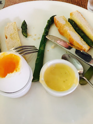 Asparagus and duck egg at the Sweet Olive French English Gastropub