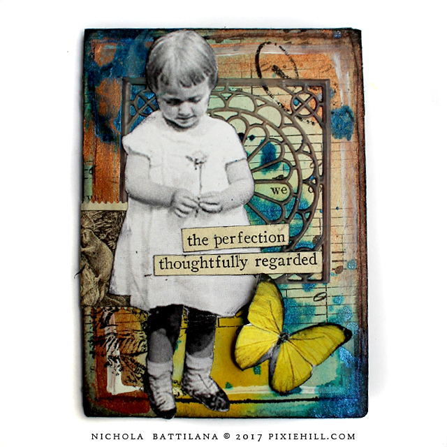 Mixed Media ATC - Nichola Battilana